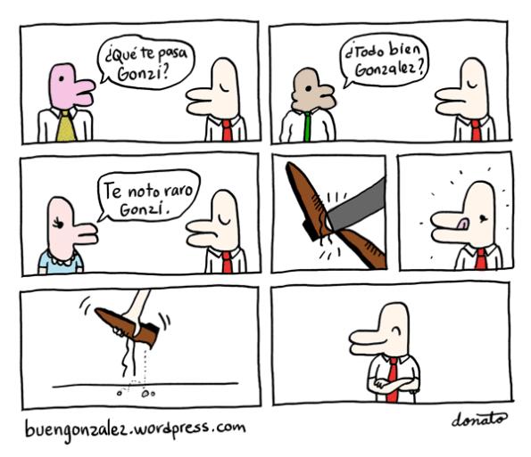 González acongojado